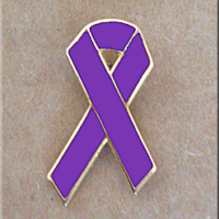 Purple Ribbon 1 inch Lapel Pin