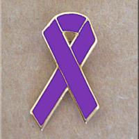 Purple Ribbon 1 inch Lapel Pin