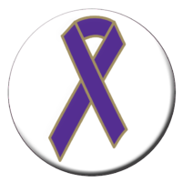 Purple Ribbon Button