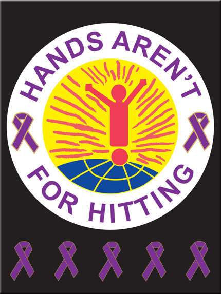 """""""HANDS AREN'T FOR HITTING"""" - Poster"""