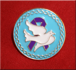 Dove Purple Ribbon - Lapel Pin