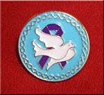 Dove Purple Ribbon - Lapel Pin