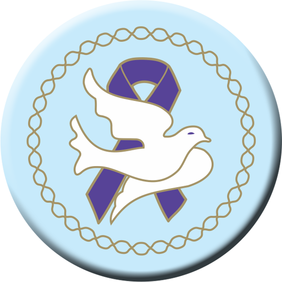 Dove Purple Ribbon - Button