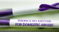 """NO EXCUSE""...Purple Ribbon Clip Pen"