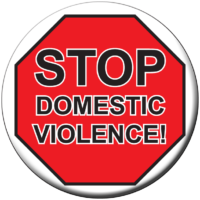 Stop Domestic Violence! - Button