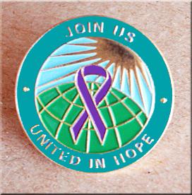 United in Hope - Purple Ribbon Pin