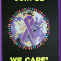 We Care Purple Ribbon - Poster