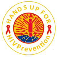 *(Sale) HANDS UP FOR HIV PREVENTION -  Lapel Pin
