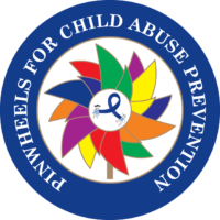 PINWHEELS FOR CHILD ABUSE PREVENTION BUTTON