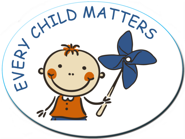 "EVERY CHILD MATTERS -  3""x 4"" Oval Magnet"