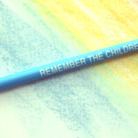 Stop Child Abuse w/Blue Ribbon - Pencil