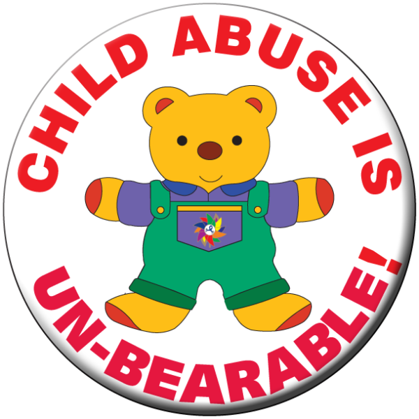 Child Abuse is UN-BEARABLE! Button