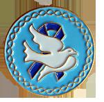 Dove Blue Ribbon - Lapel Pin