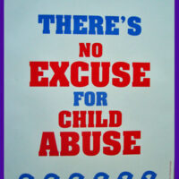 There's No Excuse For Child Abuse Blue Ribbons - Poster