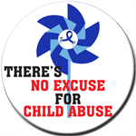 There's No Excuse Pinwheel Button