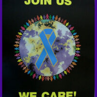"JOIN US WE CARE Blue Ribbon  Poster(18""x24"")"