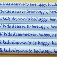 All kids deserve to be happy, healthy & safe! - Pinwheel Pencil
