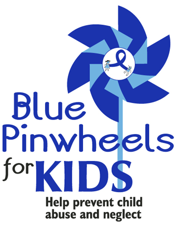 """""""Blue Pinwheels for KIDS"""" Pinwheel Poster (18x24"""")"""