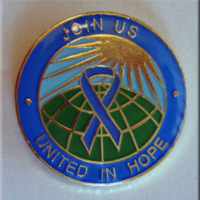 United in Hope Blue Ribbon Lapel Pin