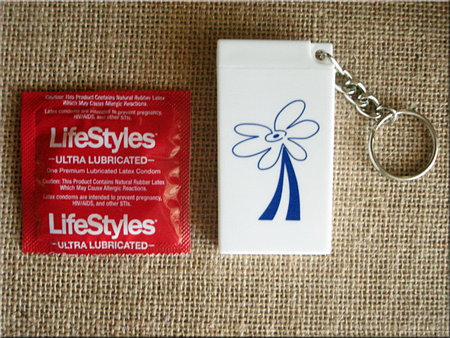 Daisy Theme-Condom Key Chain