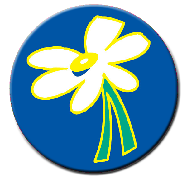 Daisy Theme Stickers - Roll of 1,000 stickers