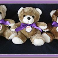 "Purple Ribbon 9"" Plush Teddy Bear"