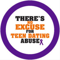 There's No Excuse For Teen Dating Abuse Stickers-Roll of 1000
