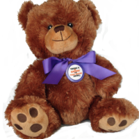 "THERE'S NO EXCUSE FOR TEEN DATING ABUSE - 10"" Teddy Bear w/embroidered features"
