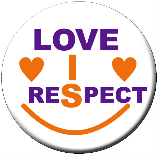 """LOVE IS RESPECT"" -  Roll of 1,000 Stickers"