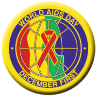 World AIDS Day December First - Button