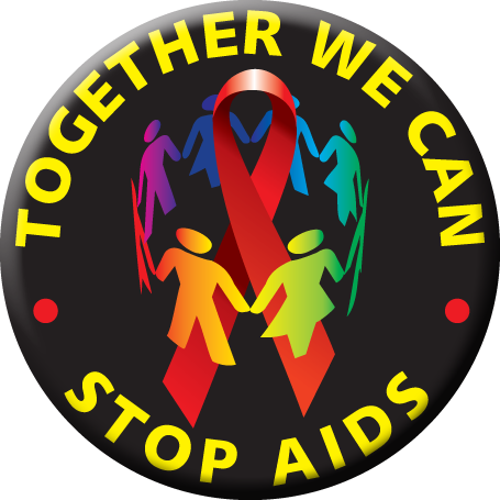 Together We Can Stop AIDS Button
