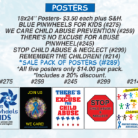 *SALE POSTER PACKAGE - All 5 Child Abuse Awareness Posters