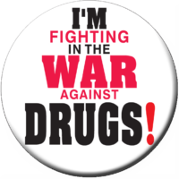I'm Fighting In the War Against Drugs Stickers - Roll of 1,000
