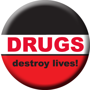 DRUGS Destroy Lives Stickers - Roll of 1,000