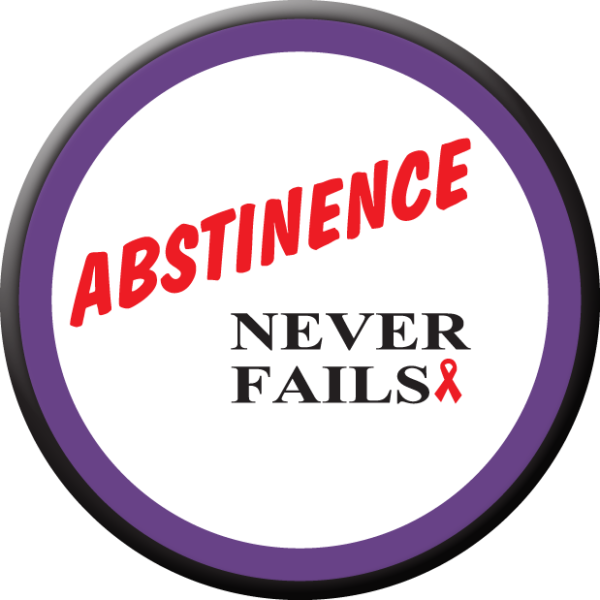 Abstinence Never Fails Button