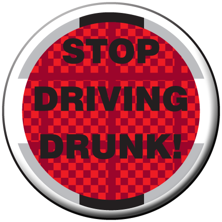 STOP DRIVING DRUNK - Stickers - Roll of 1,000