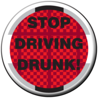 """STOP DRIVING DRUNK!""  Awareness Button"