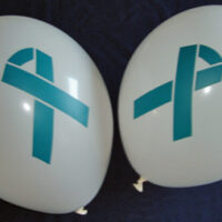 TEAL RIBBON - Bag of  100 Balloons