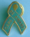 Be Aware/Care - Teal Ribbon Lapel Pin