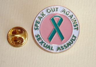 SPEAK OUT-Teal Ribbon Lapel Pin