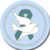 Dove Teal Ribbon Pin