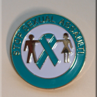 STOP SEXUAL ASSAULT! Teal Ribbon - Lapel Pin