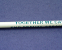 TOGETHER WE CAN END SEXUAL ASSAULT TEAL RIBBON- Pencil