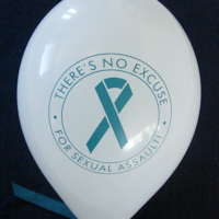 THERE'S NO EXCUSE FOR SEXUAL ASSAULT- Balloons
