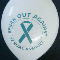 SPEAK OUT AGAINST SEXUAL ASSAULT-Balloons