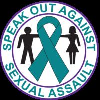SPEAK OUT AGAINST SEXUAL ASSAULT-Button