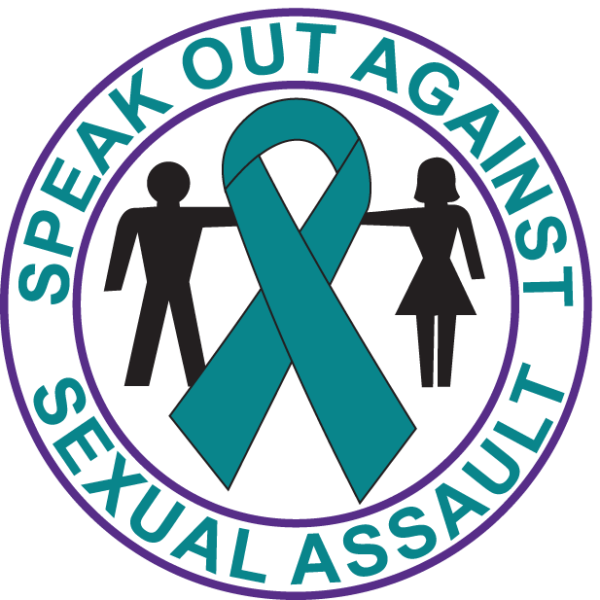 SPEAK OUT AGAINST SEXUAL ASSAULT-Button