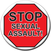 STOP SEXUAL ASSAULT!- Button