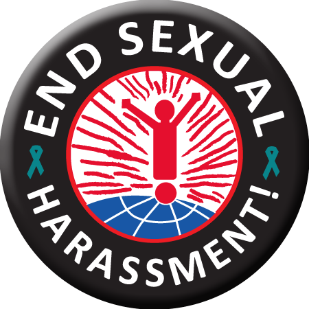 Button- END SEXUAL HARASSMENT