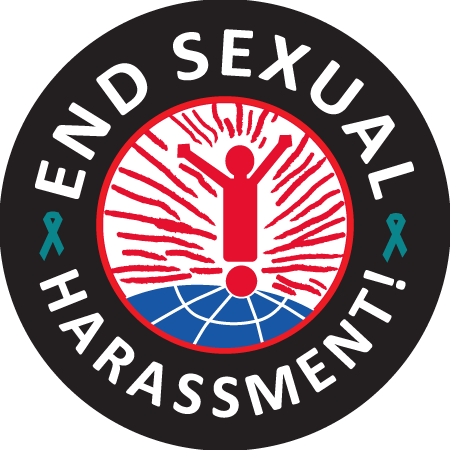 Stickers-END SEXUAL HARASSMENT - Roll of 1000
